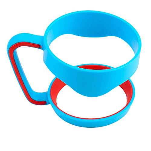 Portable Double Cup Handle for 30 Oz Cup Tumbler Coffee Mug Rambler Travel Drinkware Hand Holder Car Vacuum Insulated Cup Blue