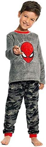 Spider-Man Boys Sleepwear - Fleece Kids 2-Piece Pajama Set