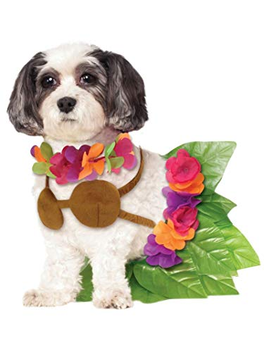 Simple Halloween Costumes For Dogs (Rubie's Hula Girl Pet Costume,)
