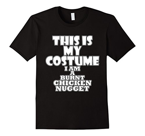 Mens Burnt Chicken Nugget Funny Halloween Costume Idea T-Shirt Small Black (Pair Costume Ideas For Halloween)