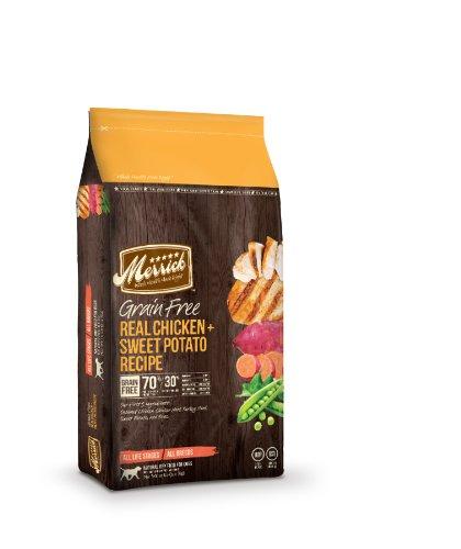 Merrick Grain Free 12-Pound Real Chicken and Sweet Potato Dog Food, 1 Bag, My Pet Supplies