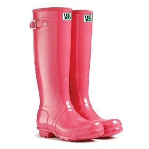 Moneysworth & Best Women's Tall Rubber Welly Boots, 8, Pink