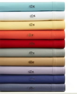 Lacoste Brushed Twill QUEEN Sheet Set, Deep Cobalt - Brushed Twill Sheet Set