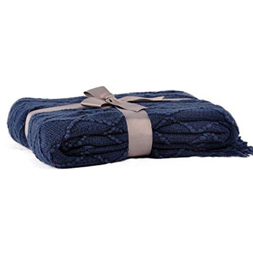 (Battilo Knit Diamond Pattern Decorative Sofa Bed Couch (52