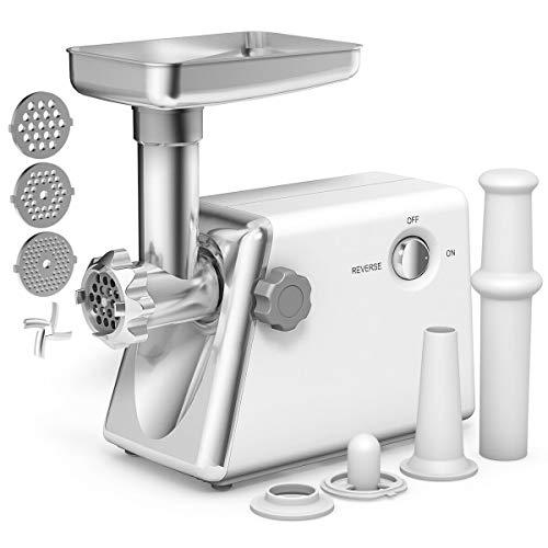 GHP 1300W Stainless Steel Multi-Purpose Grater Detachable Tube Electric Meat Grinder (Globe Meat Grinder Attachment)