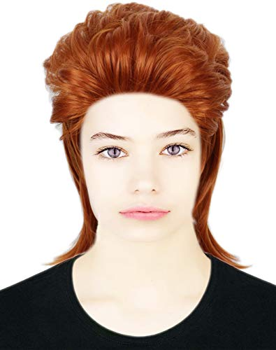 David Bowie Costumes (Codeven 70s Rocker Style Hair Wigs Halloween Costume Cosplay)
