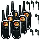 8Km Binatone Terrain 750 Walkie Talkie 2 Two Way Radio Six Pack + 6 x Comtech CT-10VX Headsets