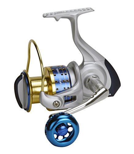Okuma Cedros High Speed Spinning Reel, Silver, Blue & Gold, CJ-40S