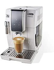 De'Longhi ECAM35020W Dinamica Automatic Coffee & Espresso Machine, TrueBrew (Iced-Coffee), Burr Grinder & Descaling Solution, Cleaning Brush & Bean Shaped Icecube Tray, White