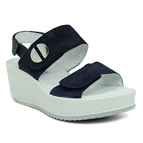 Donna Blu Sandalo Igieco Pelle Pelle Igieco Sandalo Donna BEqXax1w0