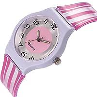 Jaylove Clearance Sale Student Fashion Soft Silicone Band Analog Quartz Round Wrist Watch Woman Watches