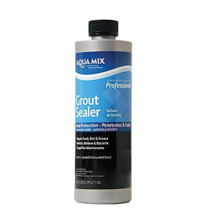 Aqua Mix Grout Sealer Dual Protection Penetrates And Coats Pint - Commercial grout sealer