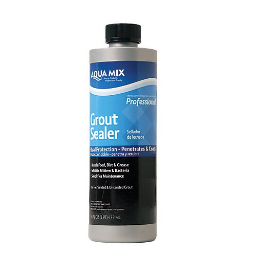 Aqua Mix Grout Sealer Dual Protection - Penetrates and Coats Pint 16oz