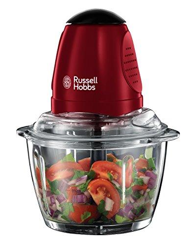 Russell Hobbs Desire 20320-56 (Mini-Zerkleinerer mit Glasbehälter), rot