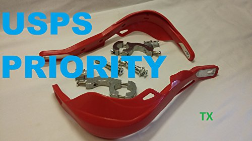 Dirt Bike ATV MX Motorcycle Hand Guards W/Mount Kits Red For Honda CR CRF XR Models