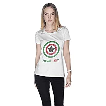 Creo Captain Kuwait T-Shirt For Women - S, White