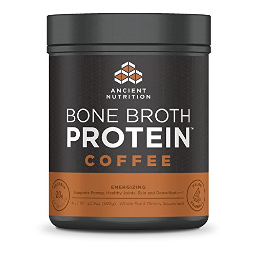 Ancient Nutrition Bone Broth Protein Powder, Coffee Flavor - 20 Servings Size