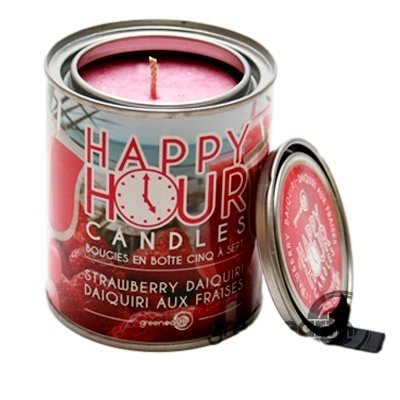 GE Happy Hour Tin Candle - Strawberry Daiquiri by Green Earth