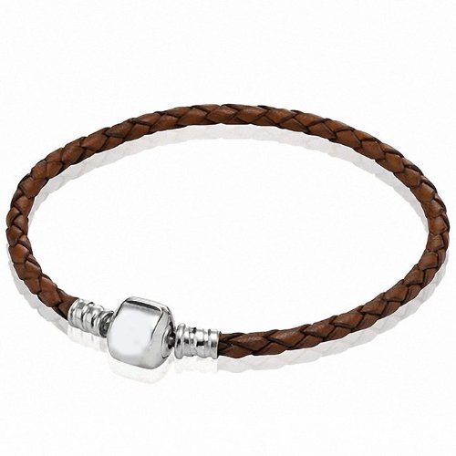 Pro Jewelry Braided Brown Leather Bracelet Available in (All Sizes in Drop Down Menu) (7.1 Inches)