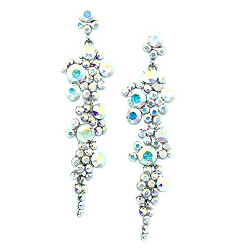Cascading Crystal Chandelier Earrings (Crystal AB)