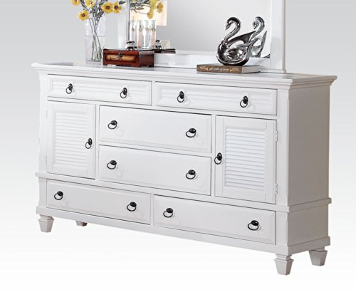 Acme furniture 22425 merivale dresser white one size 2016 for Acme kitchen cabinets