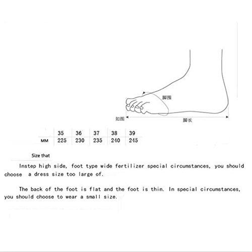 en Verano Casual tamaño el de Mujeres 37 Zapatillas y el de de y Exterior Deporte Deporte Primavera para Zapatillas Interior 4PC7q