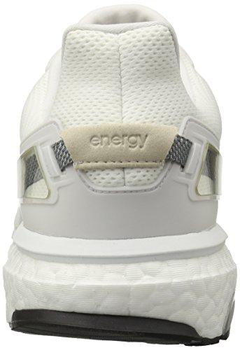 Adidas Performance Boost Energía 3 M zapatillas de running, mediados gris / negro / azul equipo, 6, White/Solid Grey/Crystal White