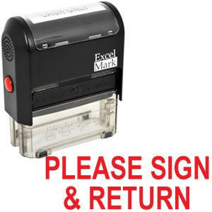 Rubber Stamp Please Sign - 1