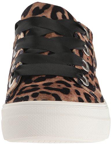 STEVEN by Steve Madden Womens Gator Fashion Sneaker Leopard