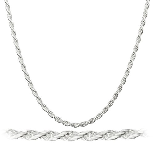 925 Italy Sterling Silver 1.5mm Rope Chain Nickel Free (sterling-Sterling Silver, 30 I.(I-2994)