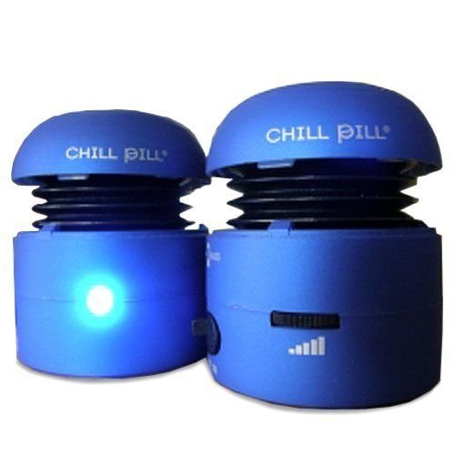 Chill Pill Mobile Speakers for iPod/Mp3 Players and Laptops (Blue)