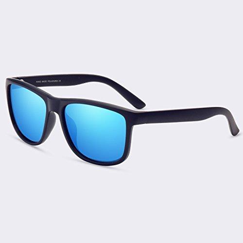 de Mirror macho sol Gafas Gafas Retro C01gris Guía Vintage polarizadas C04Blue hombres gafas TIANLIANG04 gafas sol de XPwRH