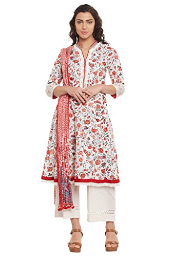 BIBA-Womens-Cotton-Kalidar-Suit-Set-Off-White