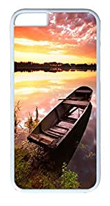 "ICORER iPhone 6 Plus Case 5.5"" Boat On Shore PC Case Cover for Apple iPhone 6 Plus White"