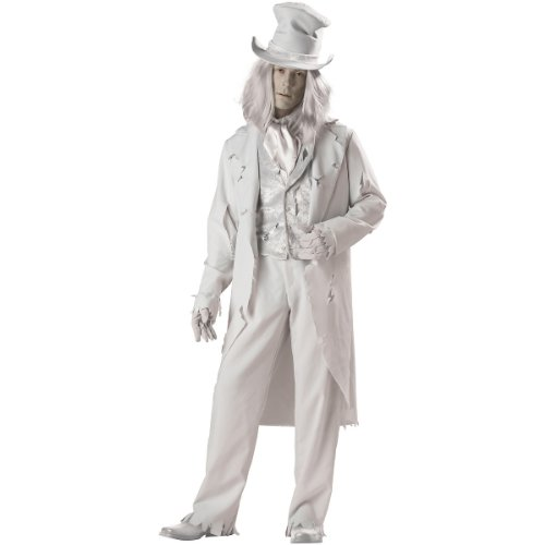 InCharacter Costumes Men's Ghostly Gent Costume, Gray, Large]()