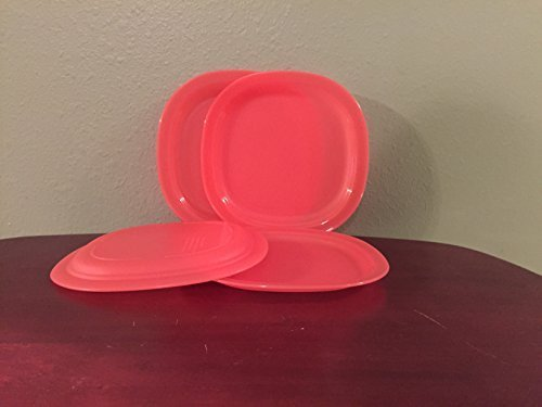 Tupperware Microwave Luncheon Plates in Guava/Melon