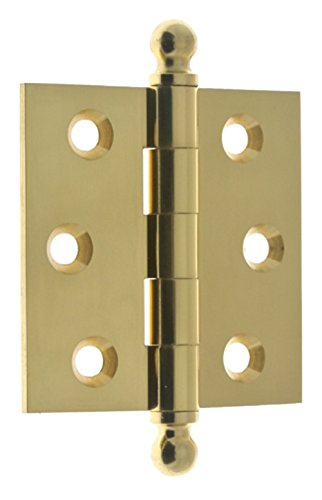 Solid Brass Mortise Hinge Finials - IDHBA 80100-003 Professional Grade Quality Solid Brass x 2-1/2