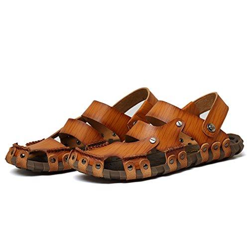 Eagsouni Slide Sandal Herren Freizeit Hausschuhe Sandalen Outdoor Sommer Strand Pantolette Schuhe Tan