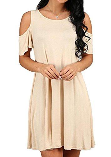 9a7f63dc98e Womens T shirt Shoulder Sundresses Pockets product image