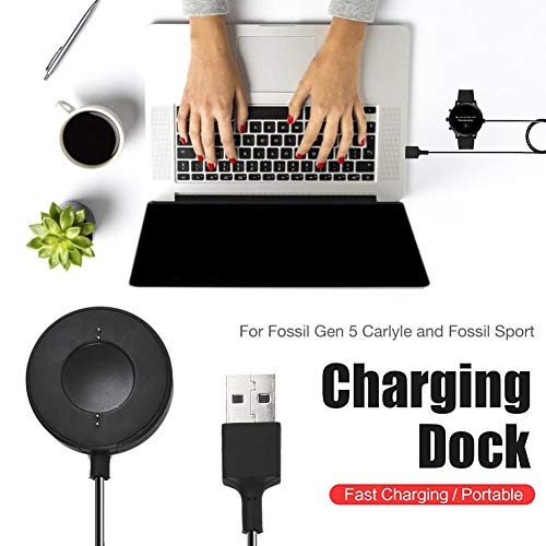 Charger for Fossil Smart Watch, Fast Charger for Data Line Adapters for Home and Travel Wireless Charging Dock