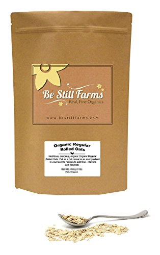 Organic Oats Rolled - Organic Regular Rolled Oats (a.k.a. Old Fashioned Oats, Oatmeal Oats, Whole Rolled Oats), 5 Pounds - USDA Certified Organic | Non-GMO | Vegan