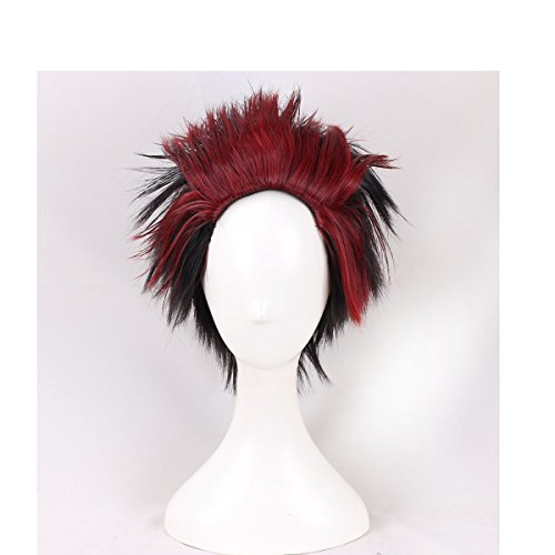 Women's Short Red and Black Ombre Cosplay Wig Costume Wig ()