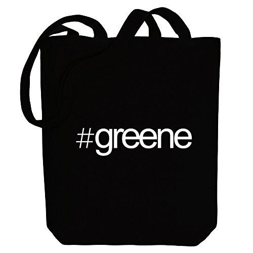 Idakoos - Hashtag Greene - Last Names - Canvas Tote - The Shopping Greene