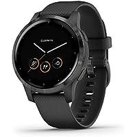 Garmin Vívoactive 4S Waterdichte GPS-Fitnesssmartwatch, met Trainingsplannen en Geanimeerde Oefeningen, voor Smalle…