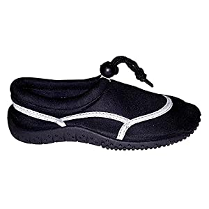 Toddler Boys Athletic Slip On Water Shies (Black, 12 M US Little Kid)