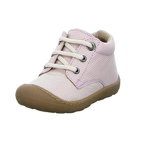 Clic! CL-9291 Kinder Schnürer Halbschuh Sneaker Punkte Glitzer Leder Rosa (Kenia Met DANAO)