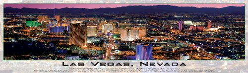 Las Vegas Panoramic Puzzle (Buffalo Games Panoramic, Las Vegas Glow in the Dark - 750pc Jigsaw Puzzle)