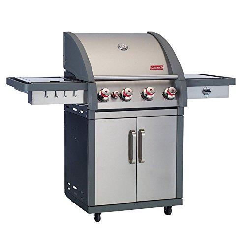 Coleman 78001 XTR4 4-Burner Stainless Steel BBQ Cart