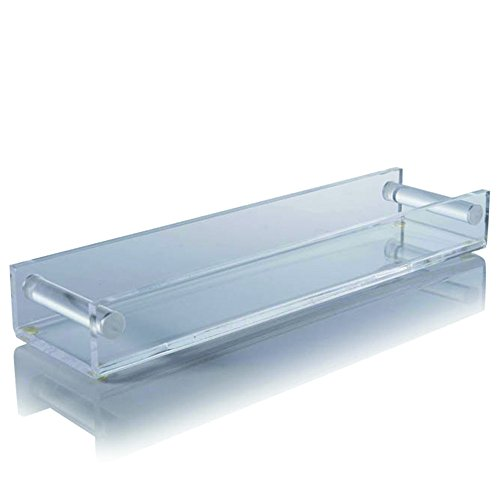 "Crystalize Acrylic Tray by Catchall for your entry table, bedroom, bath or kitchen. Makeup organizer. Appetizer server. 17"" Wide X 2.25"" High X 4.5"" Deep"