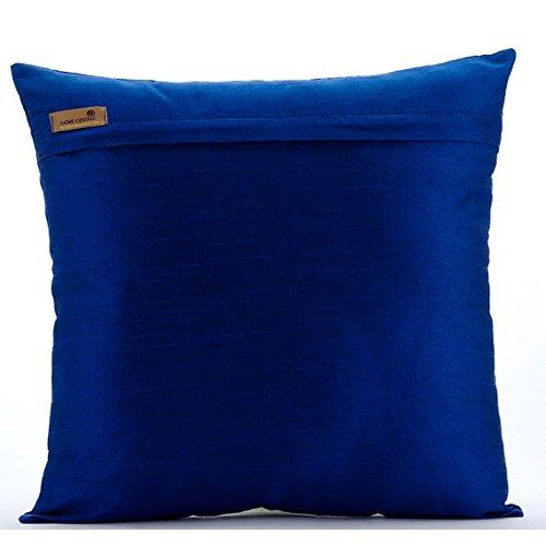 Royal Blue Pillow Cases Beaded Lattice Trellis Pattern